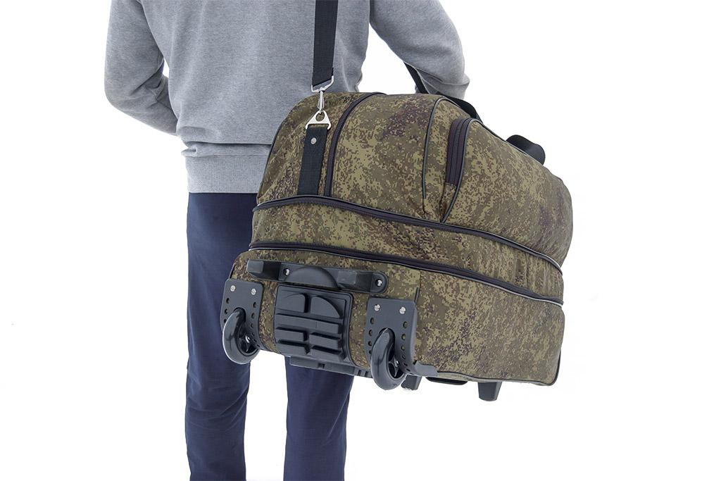 60a51f307a92 сумка на колёсах с выдвижной ручкой, военторг, большая сумка на колеса,  военная сумка